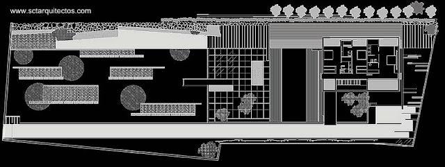 Plano de la planta superior de la casa en Mallorca