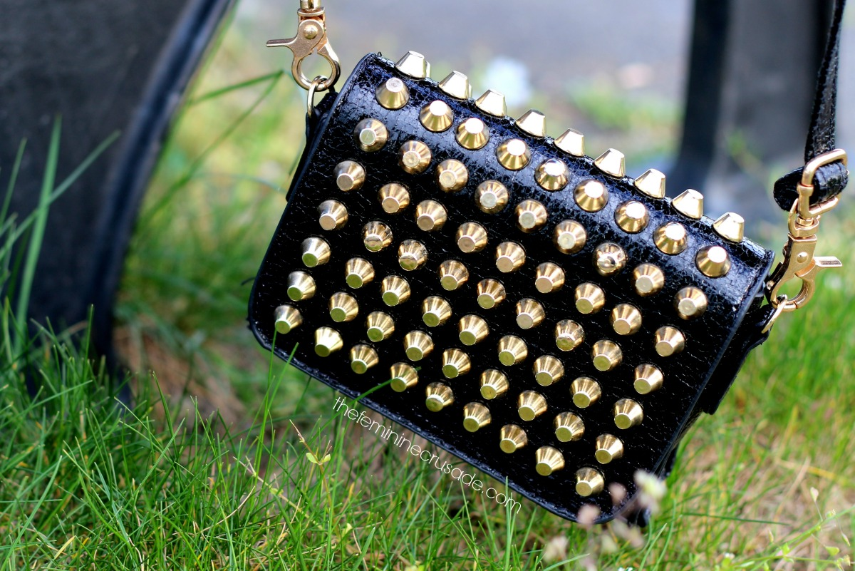 Chicnova Embellished Mini Shoulder Bag