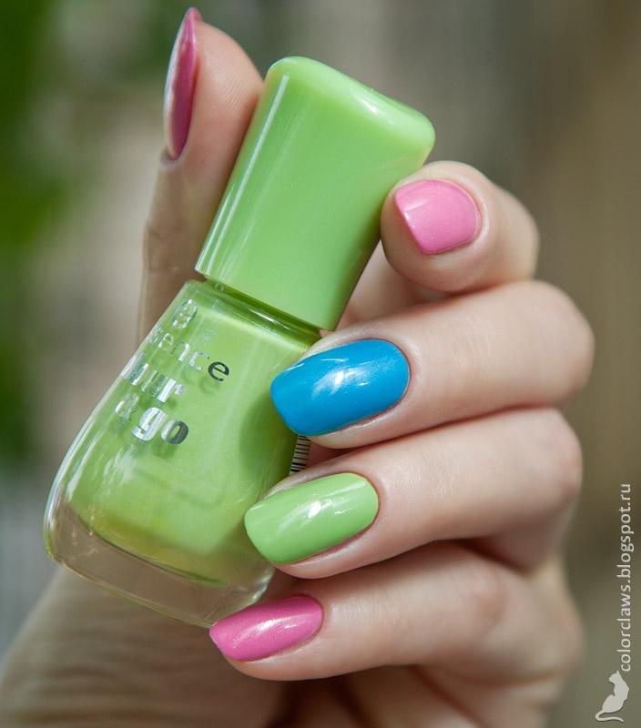 Bell Glam Wear #410 + #431 + Essence #150 Upper Green Side
