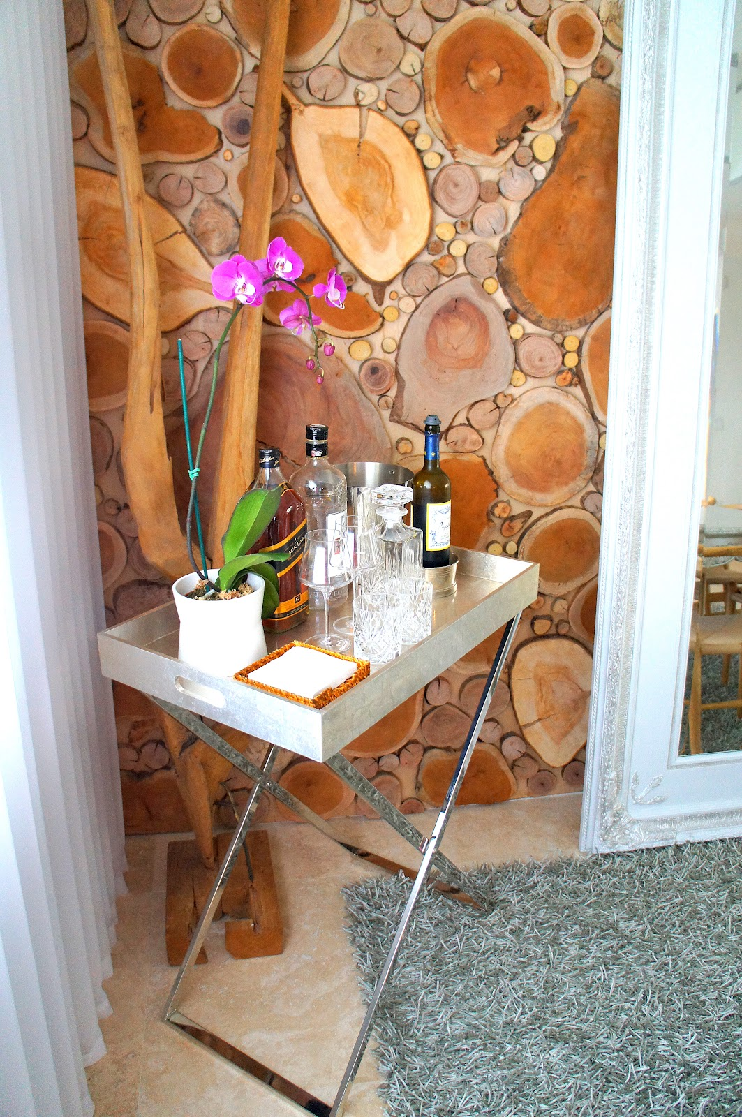 Captivating Butler Tray Stand Turned Bar From West Elm