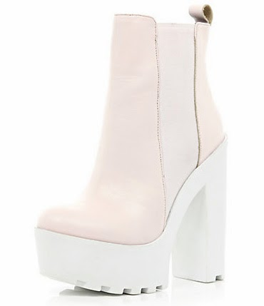 PINK CLEATED SOLE EXTREME CHUNKY PLATFORM BOOTS