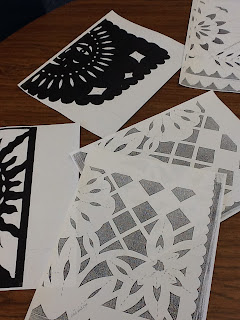 The other side of the spanish classroom papel picado for Papel picado template for kids