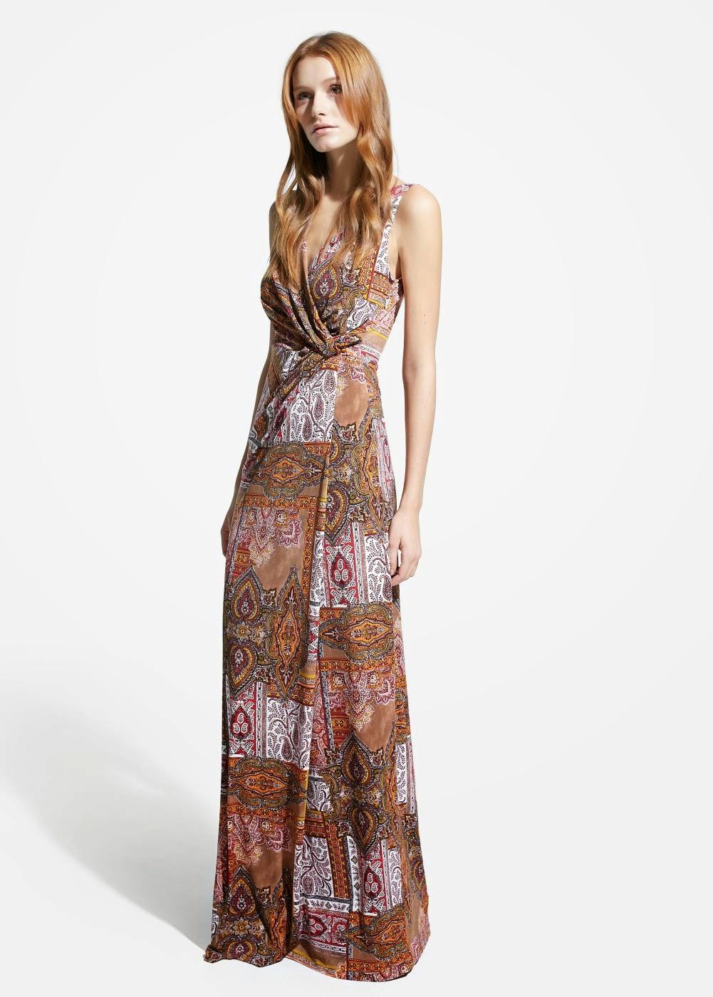 vestido largo inspiración hippie