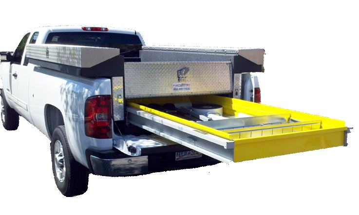 service pickup truck tool boxes on chevy silverado truck beds