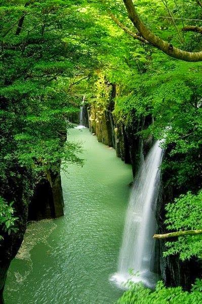 Natural Falls -Waterfall-canyon-Takachiho - Japan.