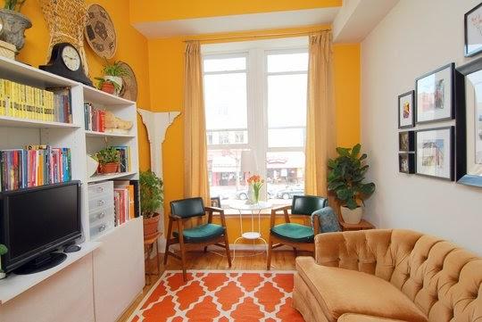 Disenar Una Sala De Estar En Linea ~ Sala de Estar Decorada con Colores Cálidos  Ideas para decorar