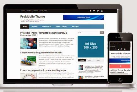 ProMobile Theme - Template Blog SEO Responsive Terbaru