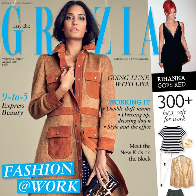 Lisa Haydon Grazia India August 2015
