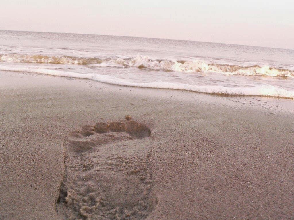 Wochenende Winter Urlaub Insel Meer Strand Sand Fußabdruck