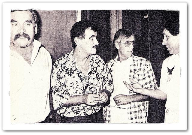 Splitska ekipa 80-tih: Boris Dvornik, Zdenko Runjić, Oliver Dragojević, Đorđi Peruzović