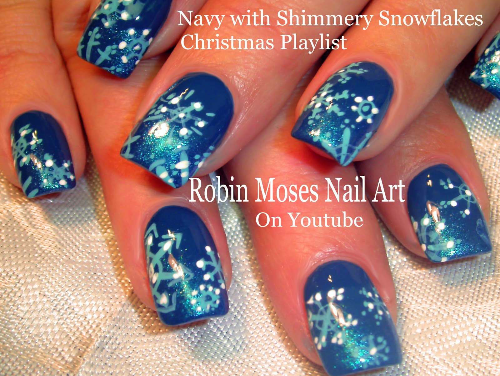 Robin moses nail art snowflake nails red nail art christmas easy snowflake nails christmas nail art design tutorial prinsesfo Image collections