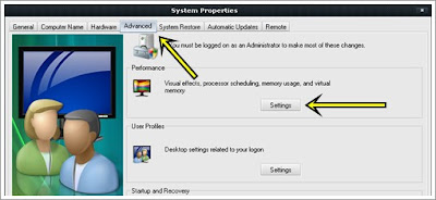 advanced system properties my computer