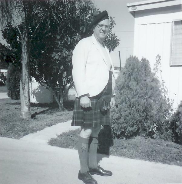 Hugh Edward Jameson modeling the Gunn tartan in 1967
