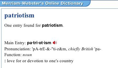 How would I write a definition essay on Patriotism?
