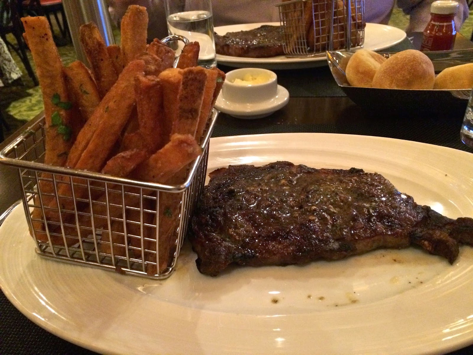 Delmonico Steak with Handcut Fries