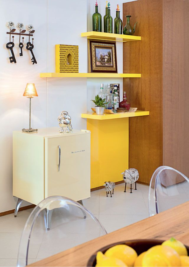 12 Ambientes com Decoração atual em amarelo!  Jeito de Casa  Blog de Decoração -> Decoracao Banheiro Atual