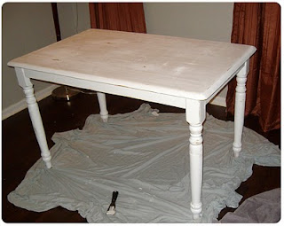 Homemade in the heartland distressed painted dining table - Painted dining tables distressed ...