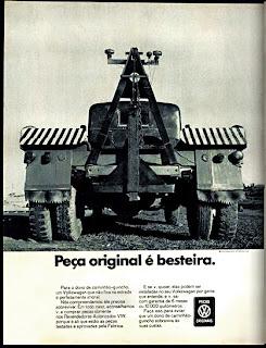 propaganda peças originais Volkswagen - 1971
