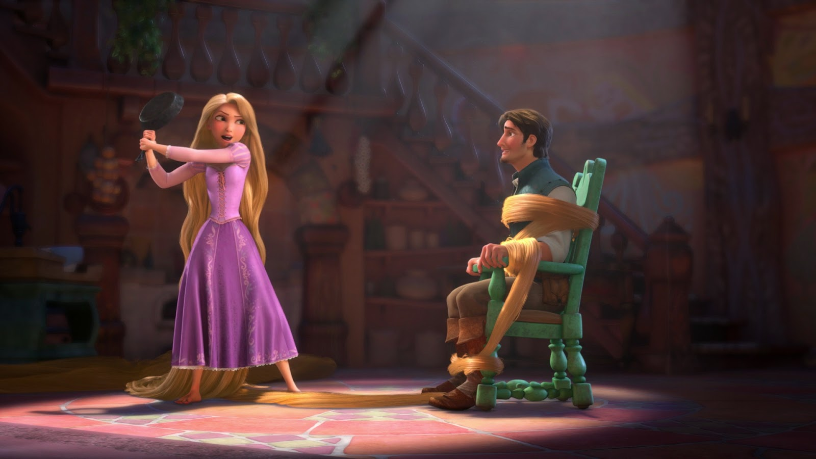 Rapunzel and Flynn are two really great lead characters. Rapunzel is  extremely sheltered but shows herself to be quite persistent and brave when  she needs ...