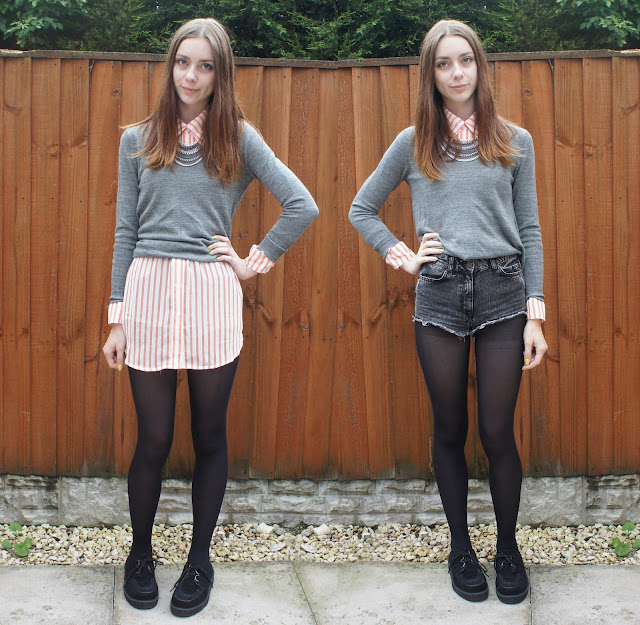 ways to wear how to wear and oversized shirt knitwear