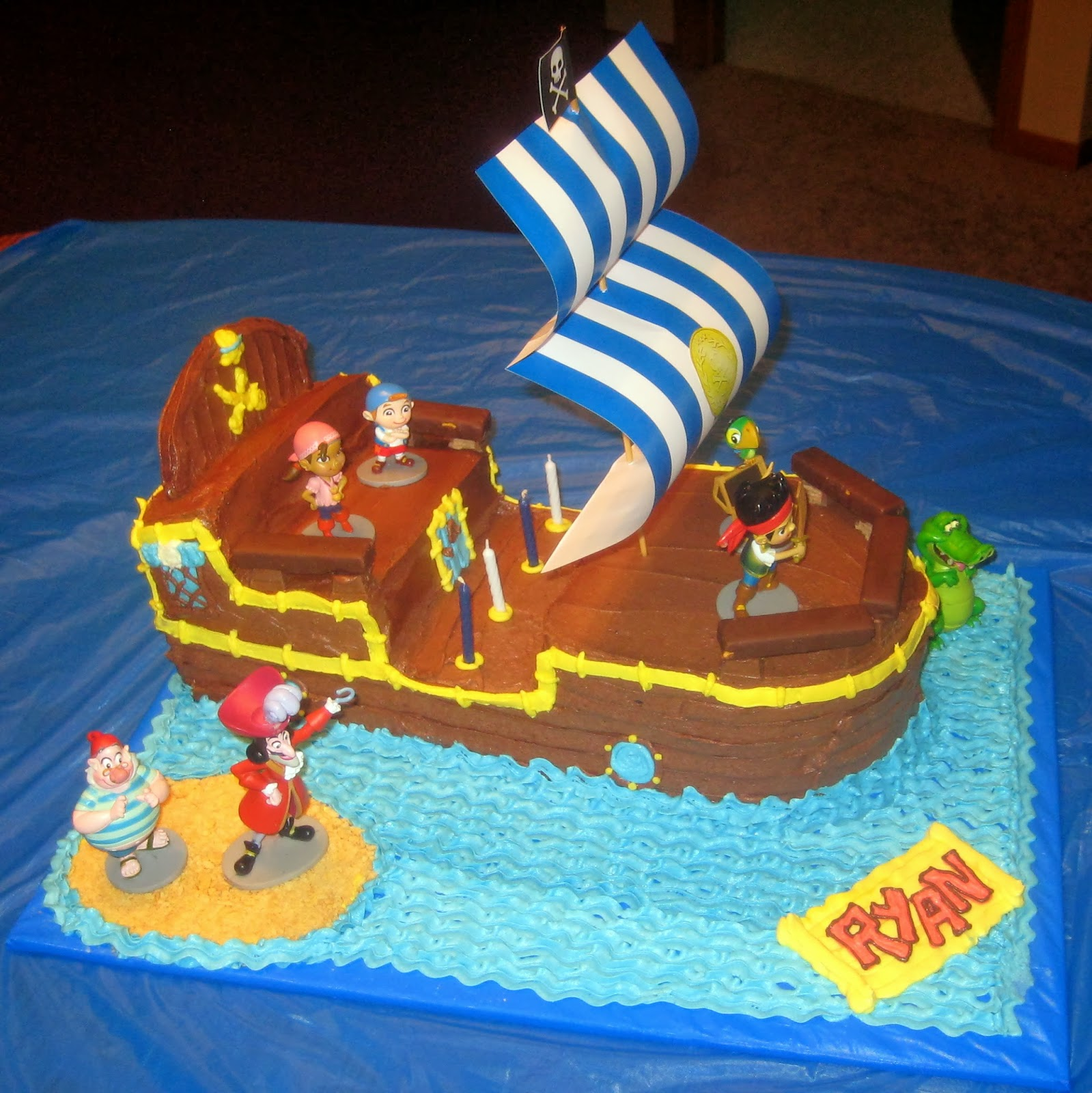 jake and the never land pirates cakespirate ship cakes Bucky the