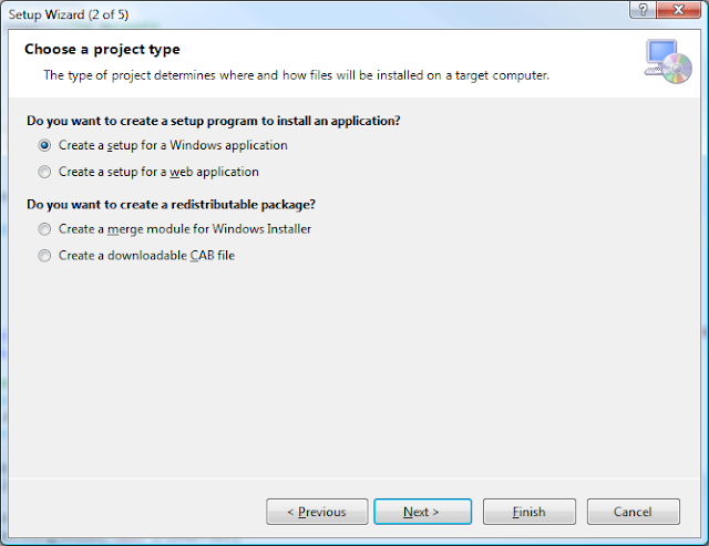 Visual Studio Setup Wizard - Step 2