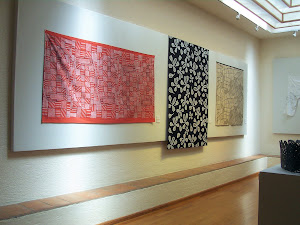 Design Exibition of Australian Indigenous Printed Fabrics.