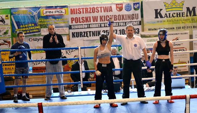 Karolina Gleisner, full contact, Kurzętnik, Mistrzostwa, Zielona Góra, treningi, kickboxing, boksi