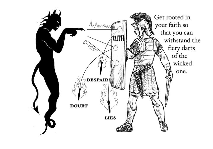 The Bible Says That Faith Is Spiritual Shield With Which You Will Be Able To Quench All Fiery Missiles Of Devil And His Wicked Demons Eph 616
