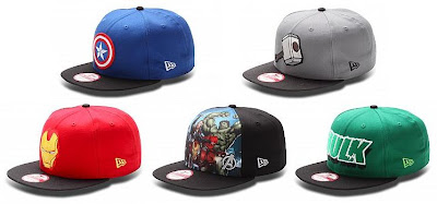 The Avengers Hat Collection by New Era - Captain America Logo, Thor Logo, Iron Man Logo, The Avengers & Hulk Logo
