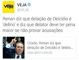 Renan Calheiros indignado com Delcídio
