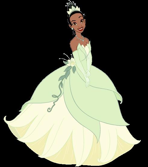 Princesa Tiana desenho colorido com fundo transparente