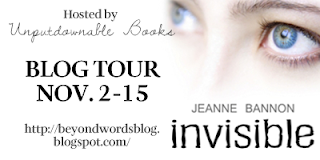 {Giveaway+Review} Invisible by Jeanne Bannon (Blog Tour)