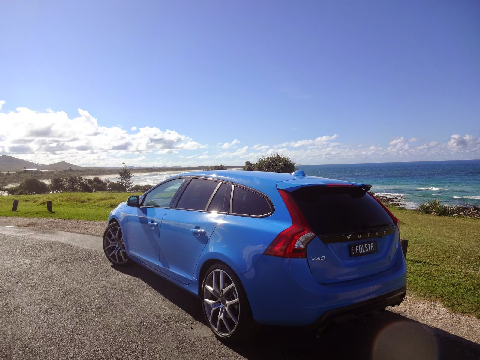Volvo V60 Polestar soaks up the sun at the beach