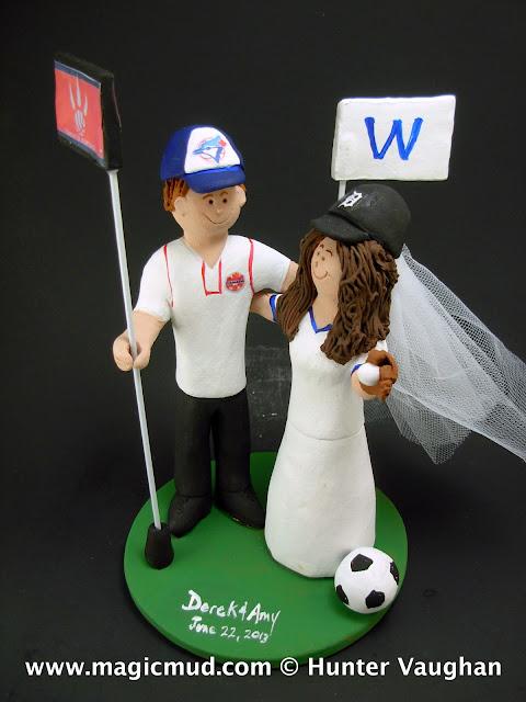 Blue Jays Baseball Wedding Cake Topper