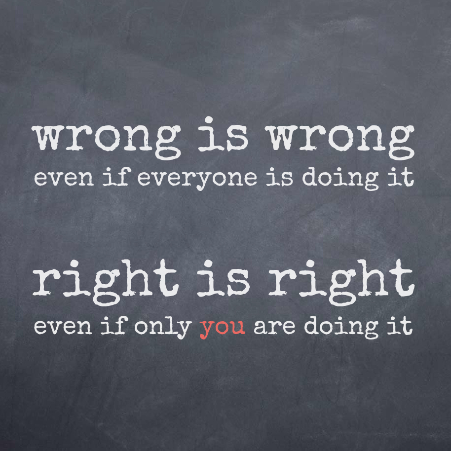 Wrong vs. Right
