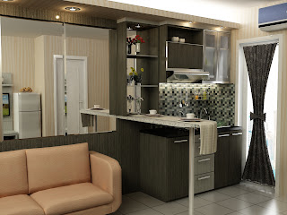 kitchen set, apartemen, kitchen murah