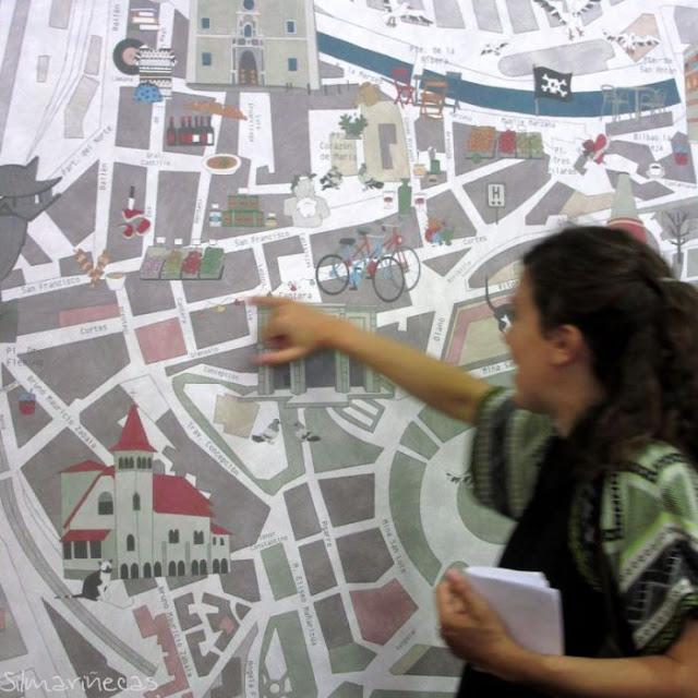El plano de Bilbao la Vieja, en expogela