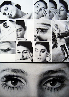 Benedetta Barzini make-up, Glamour Magazine, February 1968.