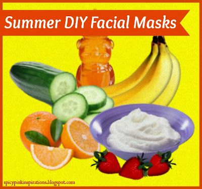 Summer DIY Facial Masks by spicypinksims.blogspot.com