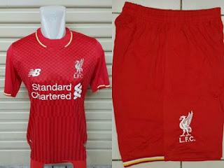 Jersey Liverpool home dan celana Official New Balance msuim 2015/2016 enkosa sport toko onlien kualitas grade ori
