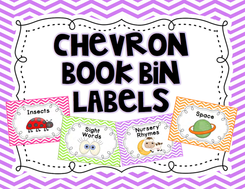 http://www.teacherspayteachers.com/Product/Chevron-Classroom-Library-Labels-1256904