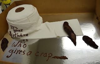 Cake reads - It's Your Birthday Who Gives a Crap