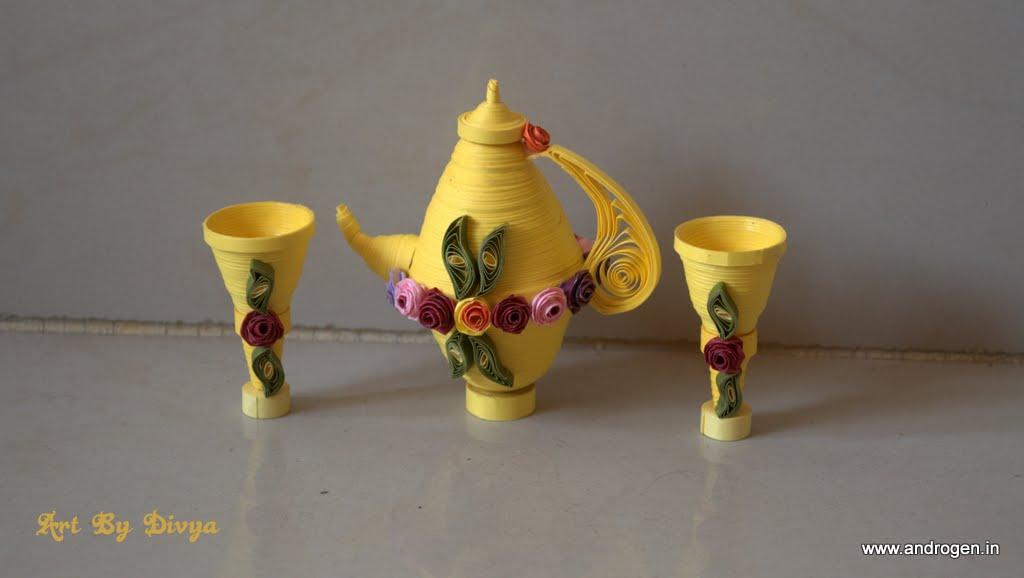 Rainbow arts quilling pot surai for Quilling kitchen set