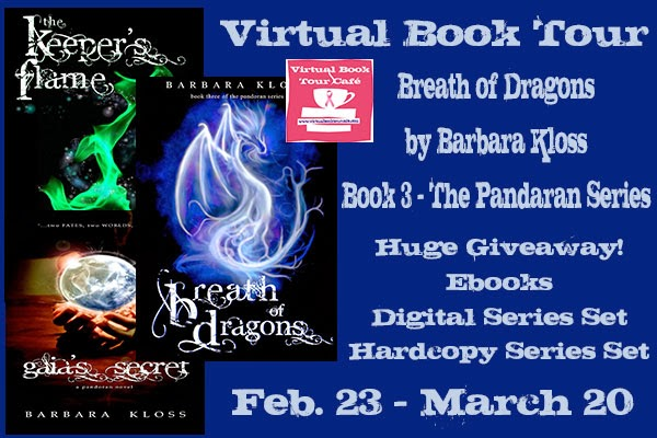 Breath of Dragons – The Pandoran Series by Barbara Kloss – Review + Giveaway