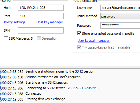 SSH Account Server Singapura (SG.DO) Gratis 5 November 2014