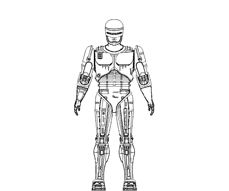 robocop coloring pages - photo#4
