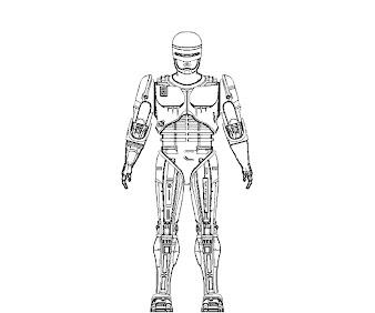 #2 Robocop Coloring Page