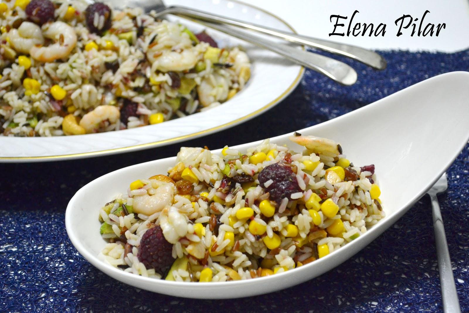 Mi recetario por elena pilar ensalada de arroz tricolor - Ensalada de arroz light ...
