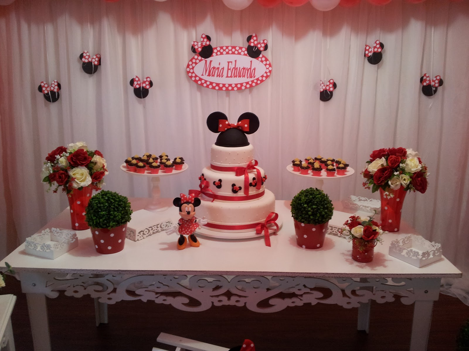Doce Voar Festa da Minnie  Cupcakes